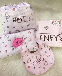 Personalized 4 pcs Baby gift set