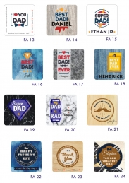 Personalized Father's Day Coaster