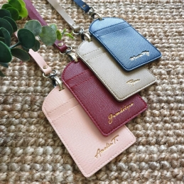 Embossed ID Card holder with landyard