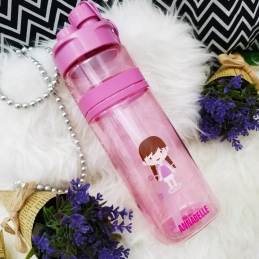 Personalized Sport Water Bottle with Character