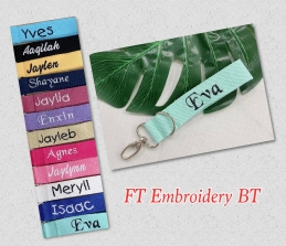 Embroidery Bag Tag Set of 6 pcs